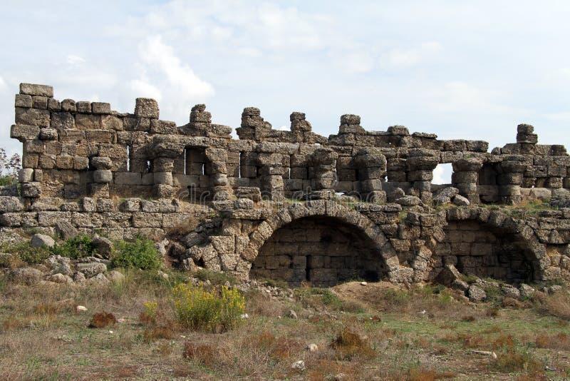 寺庙废墟  库存照片