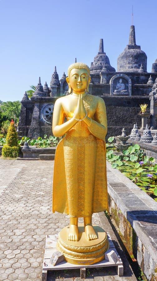 寺庙梵天Vihara荒马,巴厘岛,印度尼西亚 免版税库存照片