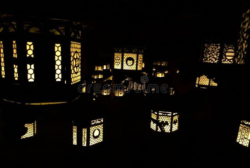 寺庙灯 库存照片