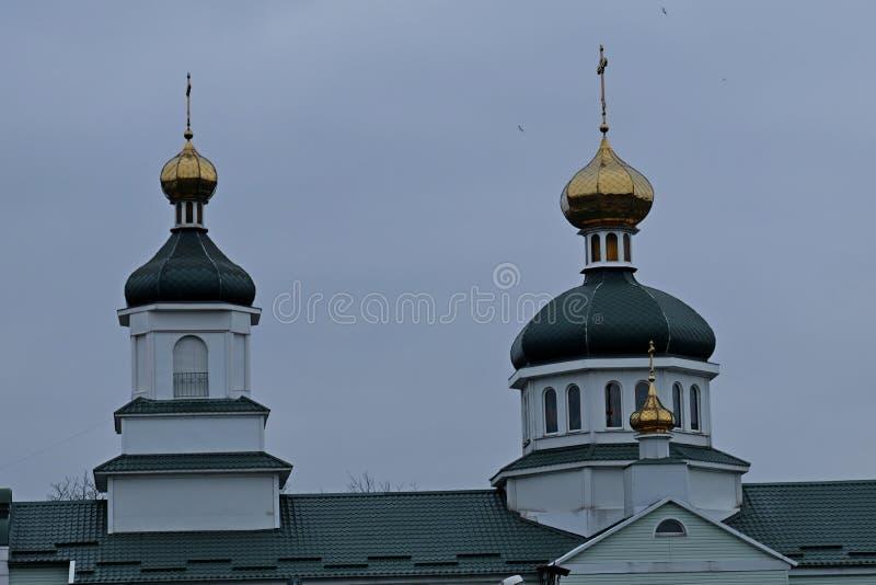 寺庙的圆顶在步行的在公园 免版税图库摄影