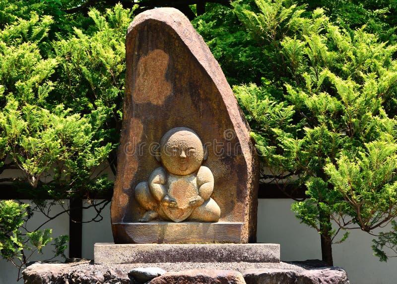 寺庙的小菩萨在京都,日本 库存图片