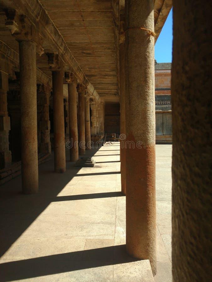 从寺庙的柱子 免版税库存照片