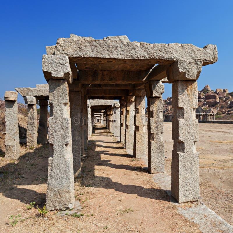 寺庙的柱子 免版税图库摄影