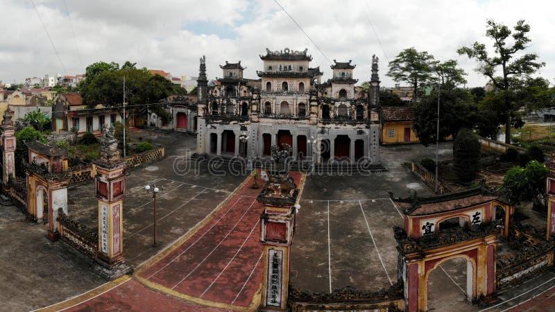 寺庙的田园诗古老秀丽 图库摄影