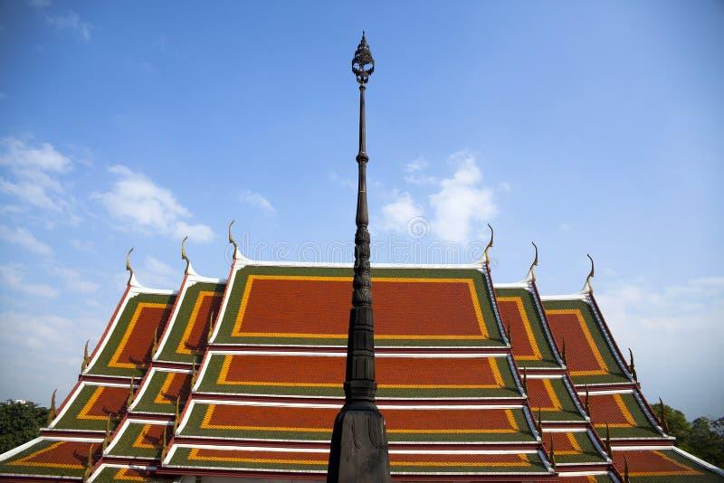 寺庙精美泰国屋顶  库存照片