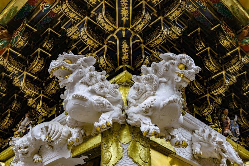 寺庙装饰品在日本 免版税库存图片