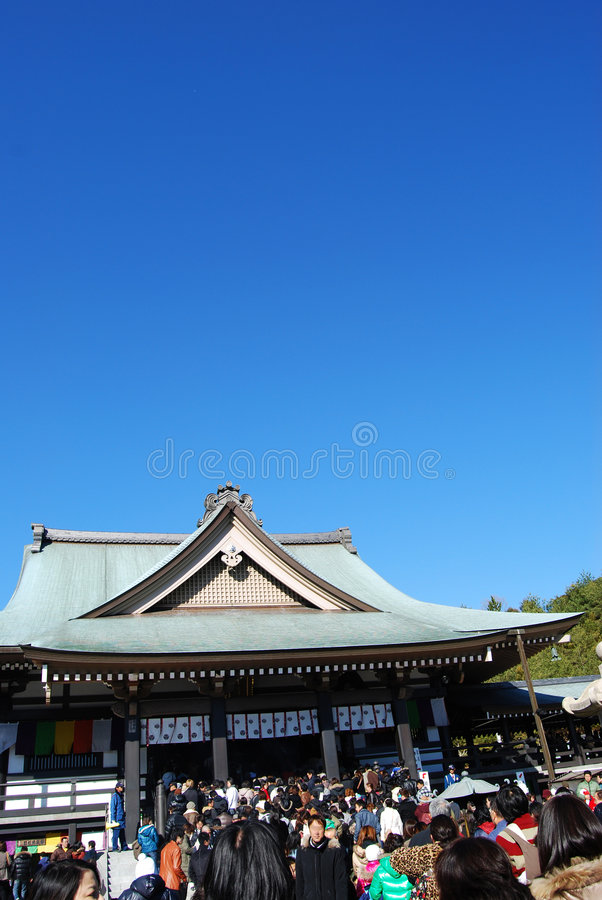 寺庙访问 库存照片