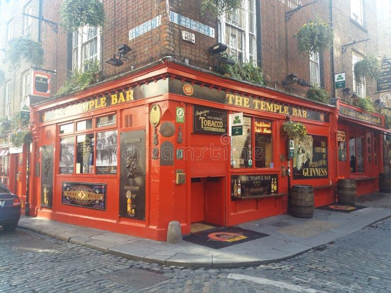 寺庙酒吧在都伯林,爱尔兰 免版税库存图片