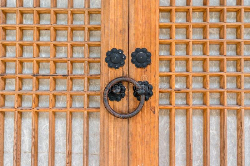 寺庙门把手 免版税图库摄影