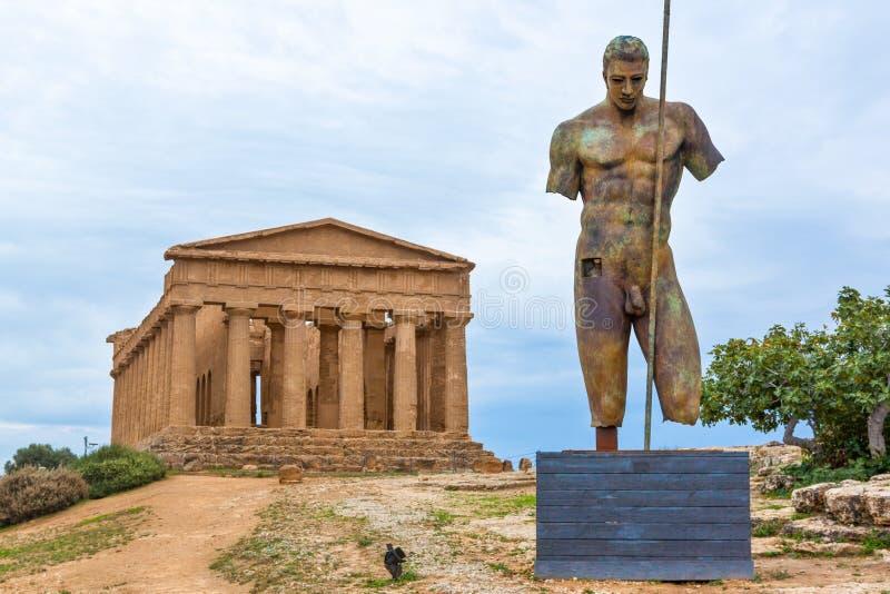 寺庙阿哥里根托的谷 库存图片