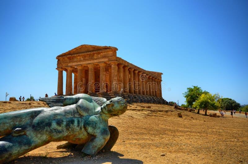寺庙阿哥里根托,意大利,西西里岛谷  免版税库存照片