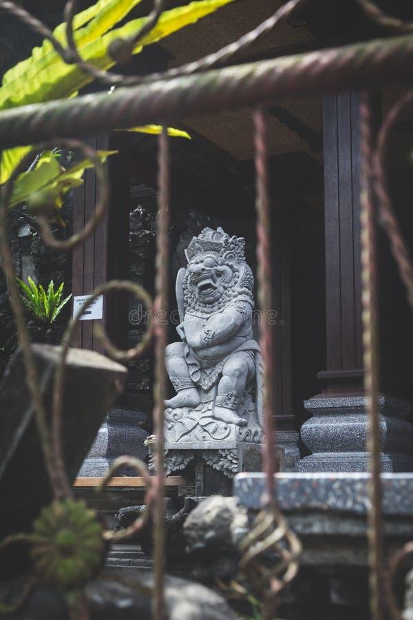 寺庙雕象在巴厘岛 库存照片