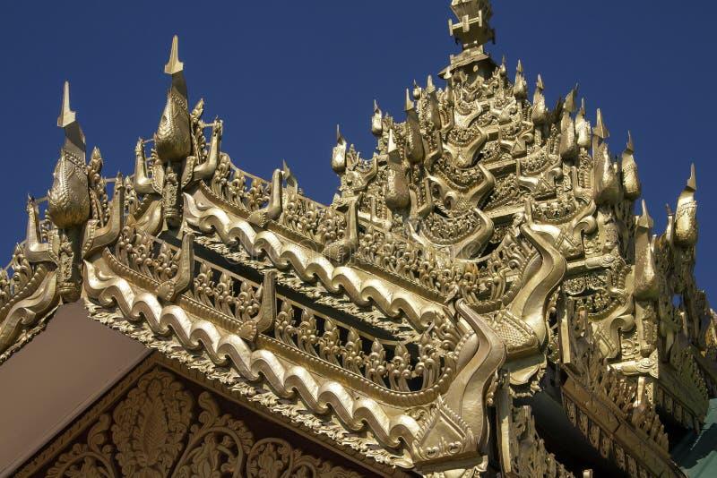 寺庙建筑学-缅甸 库存照片