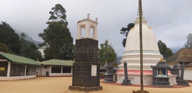 寺庙r在Nuwaraeliya 免版税库存照片