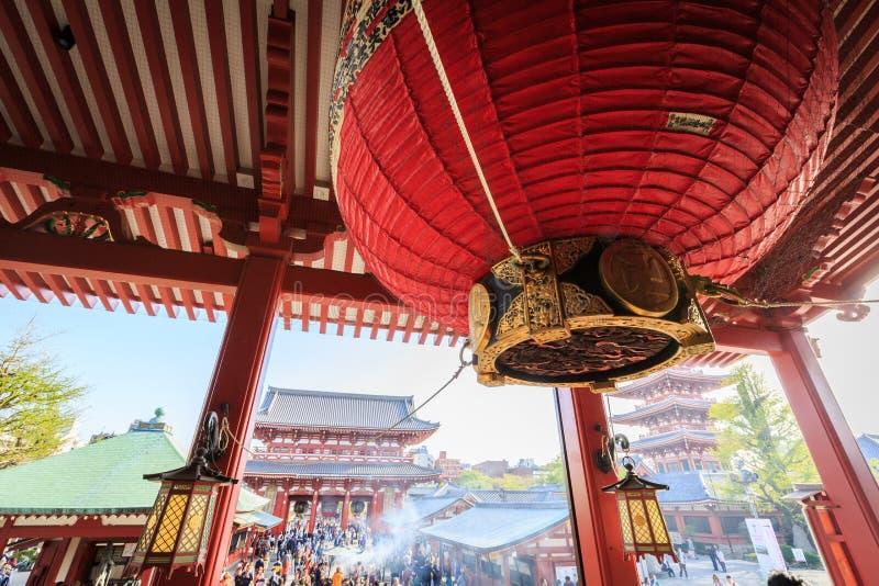 寺庙Senso籍在东京 免版税图库摄影