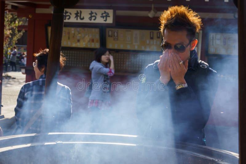 寺庙Senso籍在东京 免版税库存照片