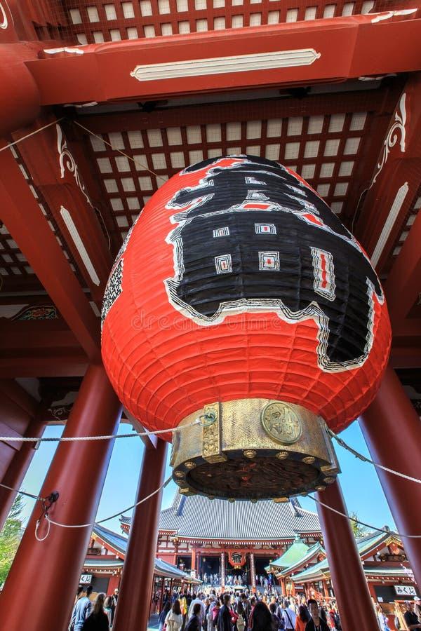 寺庙Senso籍在浅草,东京,日本 免版税图库摄影