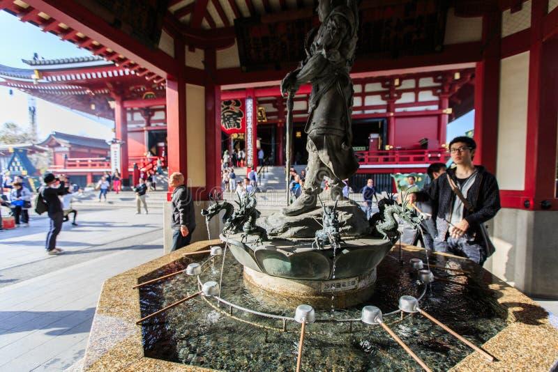 寺庙Senso籍在浅草,东京,日本 图库摄影