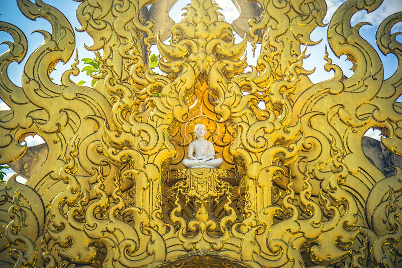 寺庙Wat荣Khun艺术在清莱泰国 免版税图库摄影