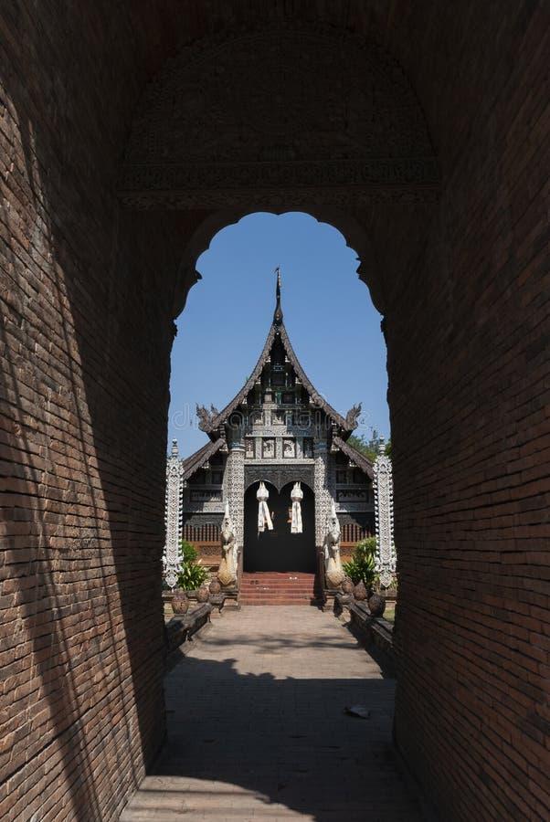 寺庙Wat Lok Molee在清迈,泰国 免版税库存图片
