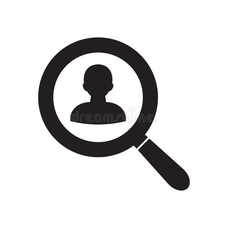 寻人传染媒介象 有里面人的放大镜 传染媒介例证,平的设计 库存例证