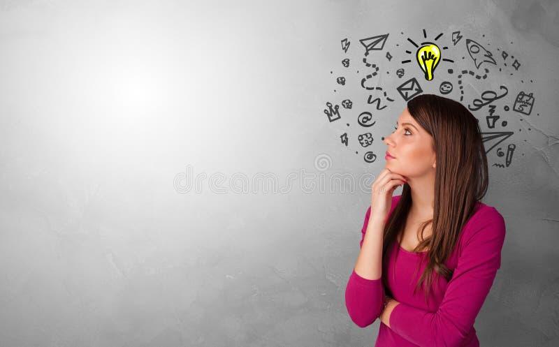 寻找新的想法的企业人 免版税库存图片