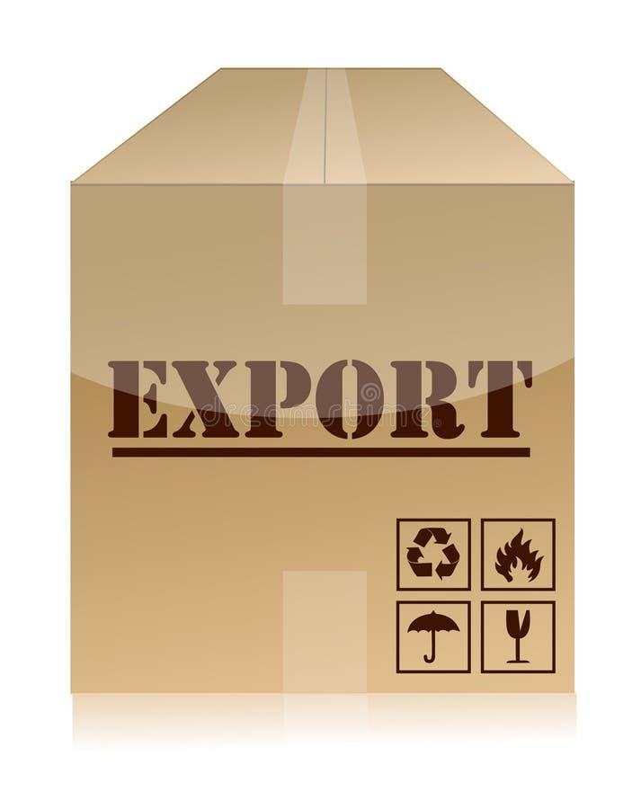 导出配件箱例证设计 皇族释放例证