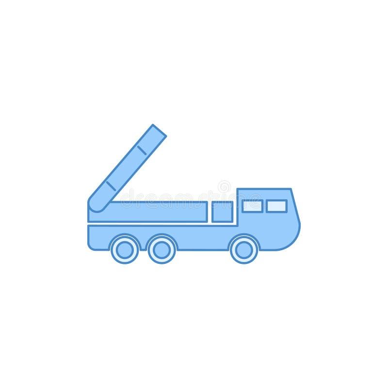 导弹卡车被填装的概述象 运输象的元素流动概念和网apps的 稀薄的线导弹卡车被填装的outli 皇族释放例证