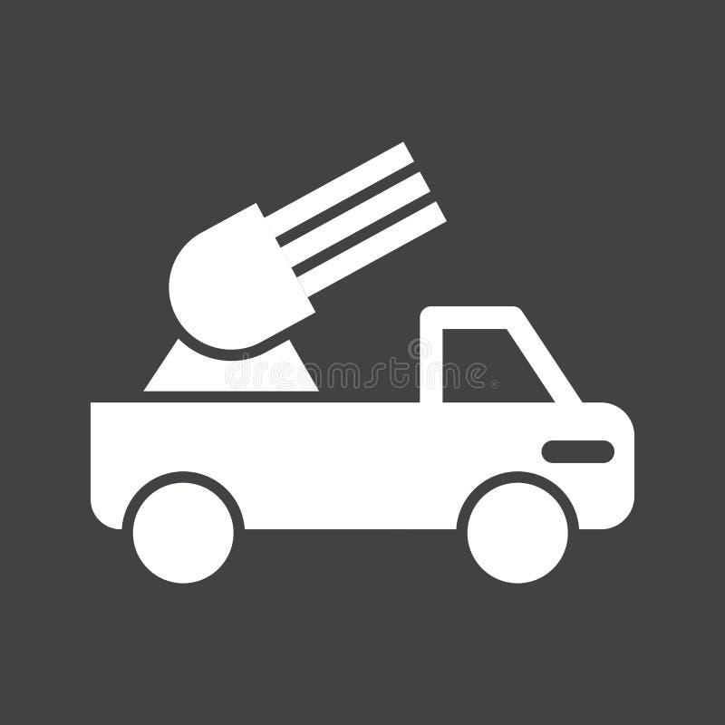 导弹卡车 库存例证