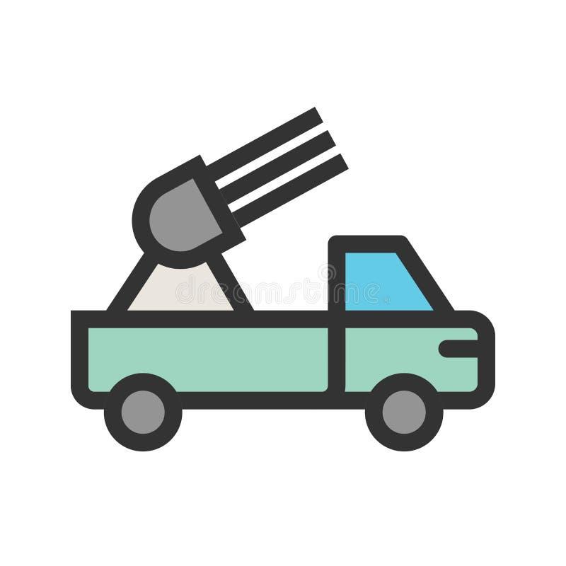 导弹卡车 向量例证
