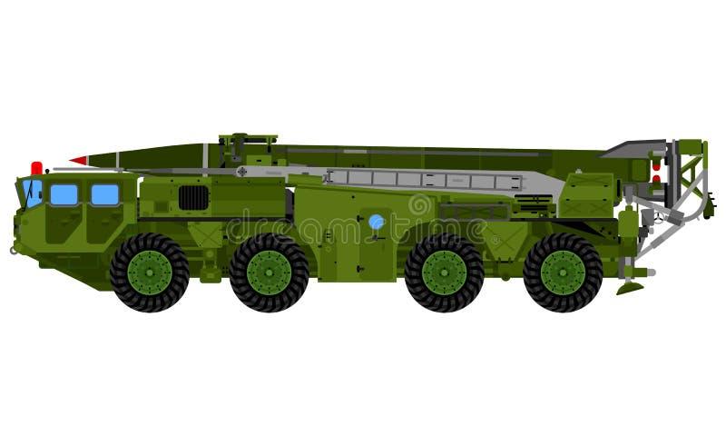 导弹发射装置卡车 库存例证