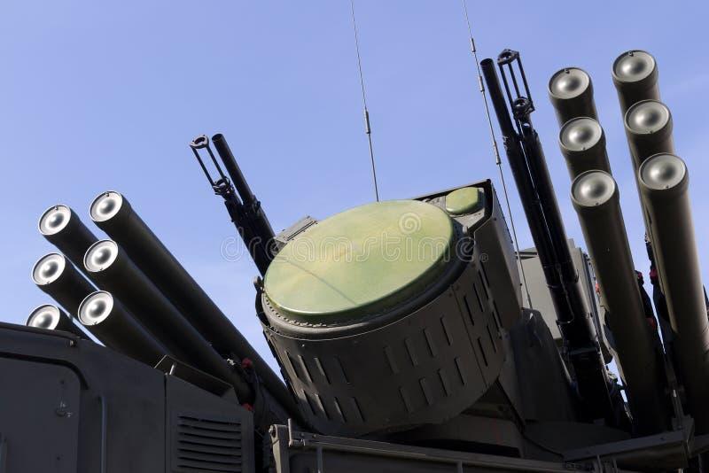 导弹和防空武器系统 免版税库存图片