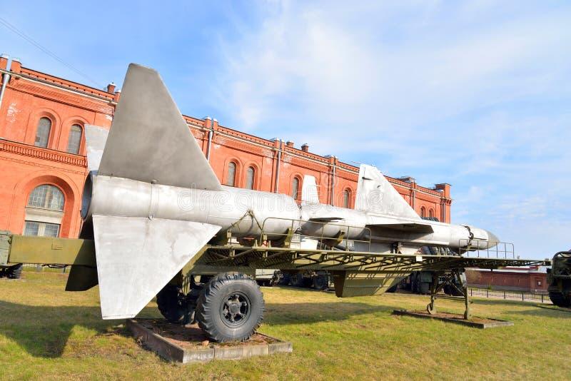 导弹复合体发射器在军事火炮博物馆 免版税图库摄影