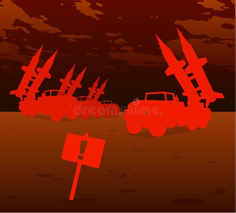 导弹红色战争 库存例证