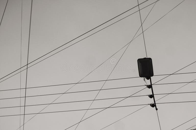 导线和缆绳 库存照片
