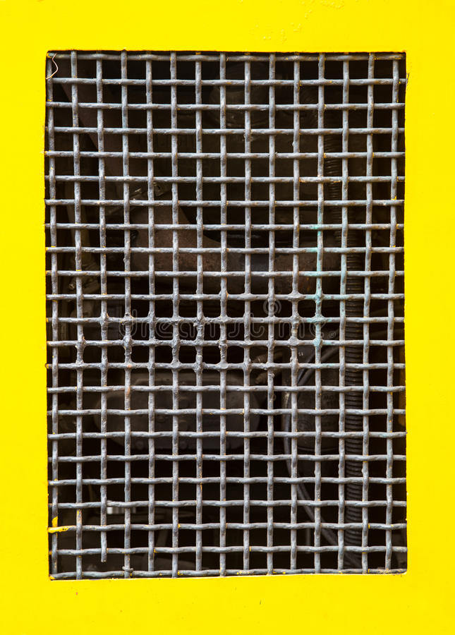 导线金属网边界黄色背景 向量例证