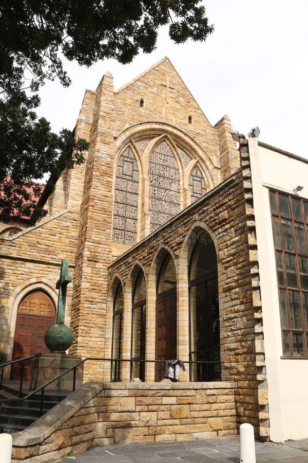 导致圣乔治` s大教堂开普敦的步 免版税图库摄影