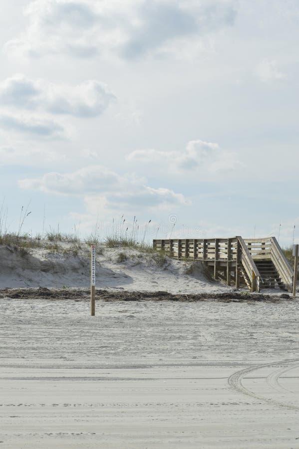 导致海滩的委员会步行 库存图片