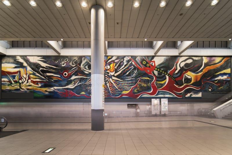 导致,并且的Inokashira线的涩谷驻地的霍尔 图库摄影