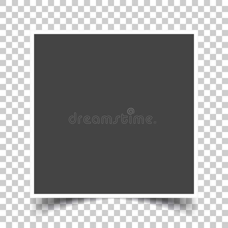 导航一个方形的框架的图象照片的 一空的rea的象 向量例证