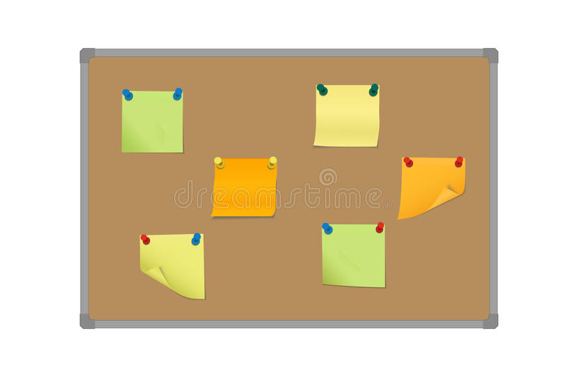 导航一套的例证色的稠粘的纸被别住的机智 库存例证