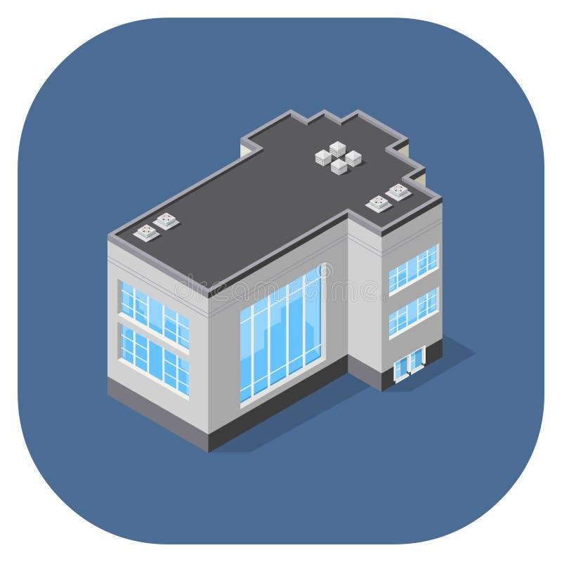 导航一座现代商业办公楼的等量例证 图库摄影