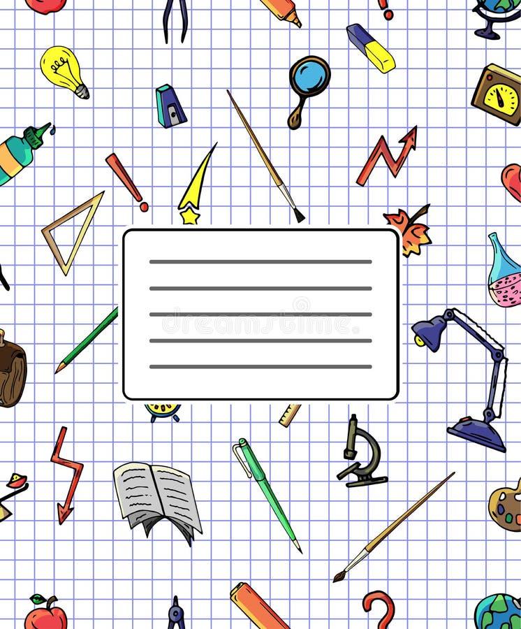 导航不同的学校对象样式减速火箭的图画  回到学校的题材 能为背景使用  皇族释放例证