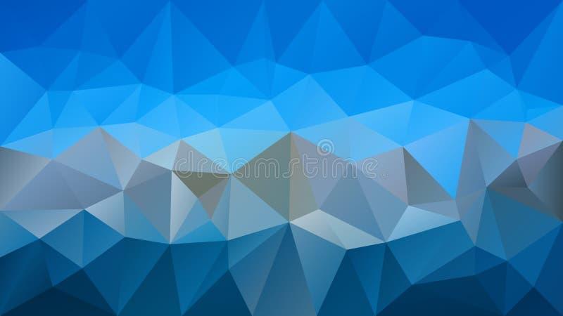 导航不规则的多角形背景-三角低多样式-轻的天空和深灰颜色 皇族释放例证