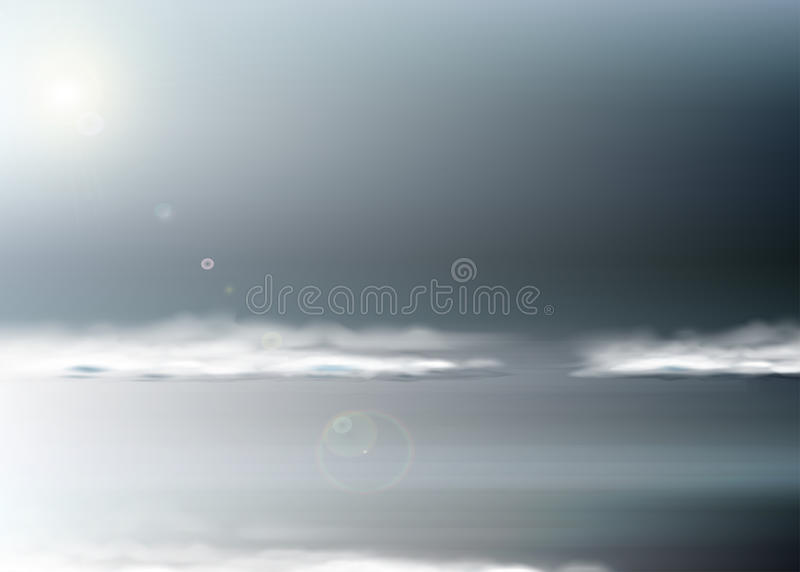 导航与不安定的海景的抽象背景在灰色口气 库存例证