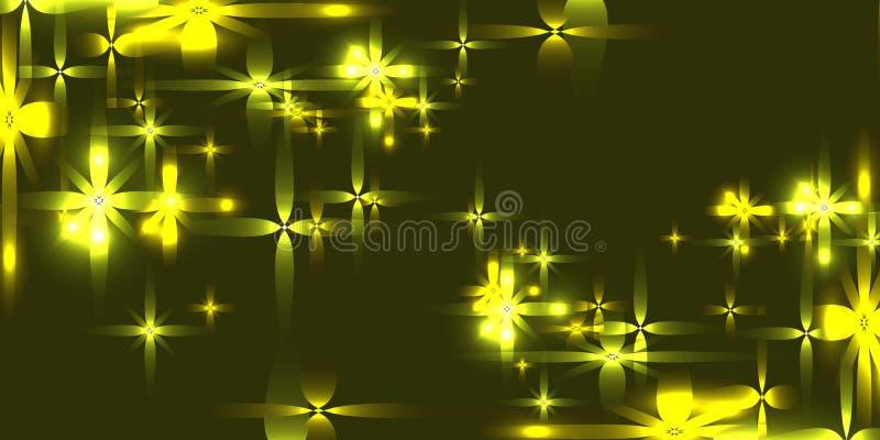 导航与光亮的轻的金属星的沼泽背景 皇族释放例证