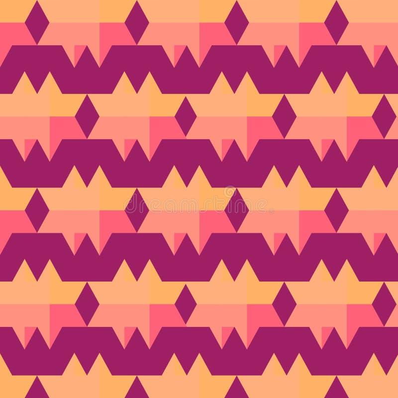 导航与几何形状的几何样式,菱形 向量例证