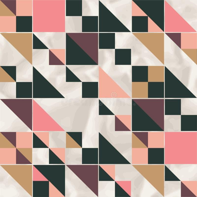 导航与几何形状的几何样式,菱形 库存例证