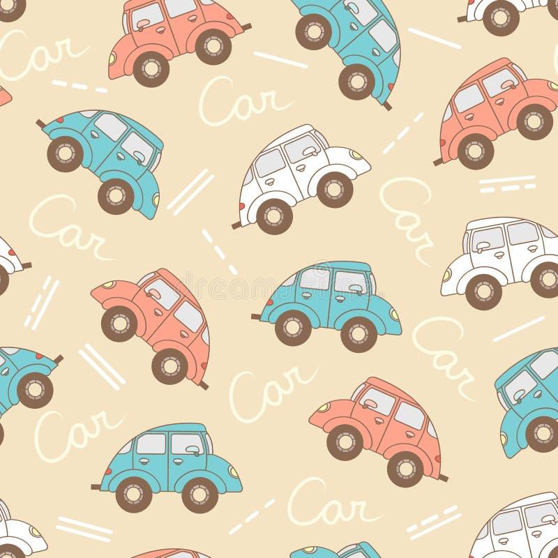 导航与动画片汽车的样式用于设计 库存例证