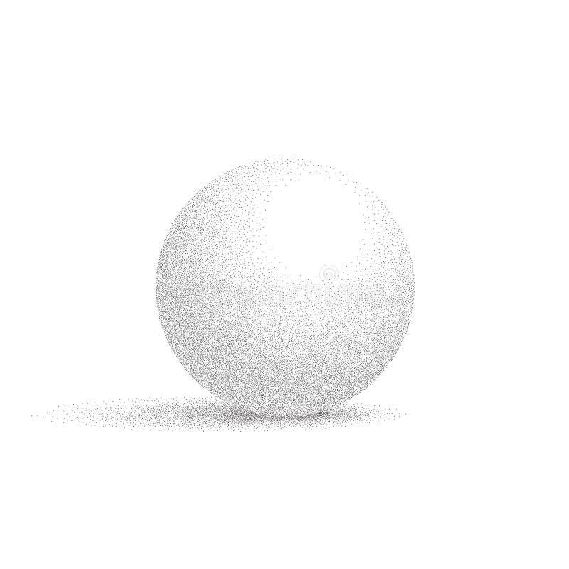 导航与在白色背景隔绝的被加点的阴影的白色球形 皇族释放例证